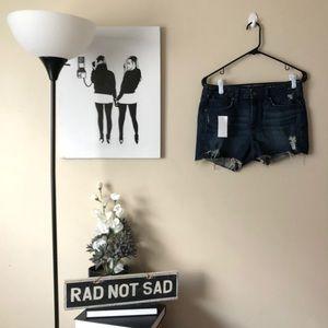 🌸NWT Gap dark wash slim cutoff jean shorts